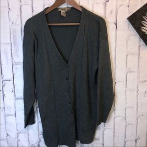boyfriends button down cardigan. Size medium